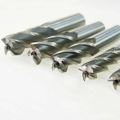 4 Flute HSS End Mill Metric Sizes 4 to 20mm Endmills Milling Cutter Steel