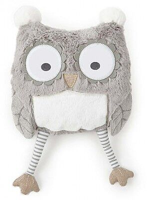 New Adorable Soft Baby Night Owl Nursery Pillow Naptime Easy To Clean Playroom