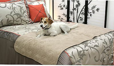 Quilted Micro Suede  Pet Slipcovers Pad Protector Full Queen King Mattress Bed