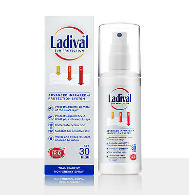 LADIVAL NON-GREASY SUN PROTECTION LOTION SPRAY PARABEN FREE SPF30 150ml