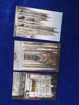 Hand Colored Postcards Lot 3 Cathedral St. John The Diving New York Church