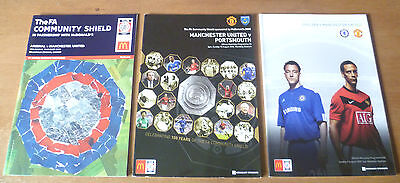 3x Manchester United Charity Shield Match Programme, 2003-09.