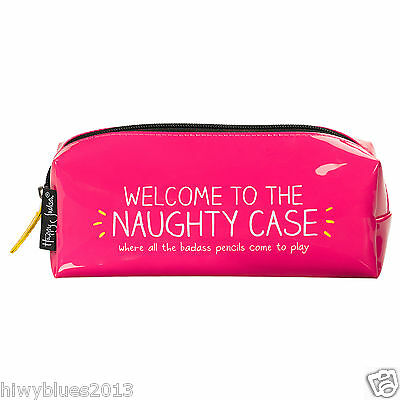 HAPPY JACKSON 'NAUGHTY' PENCIL CASE - CHEAPEST ON EBAY - work,school,gift,