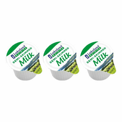 Lakeland Branded Half fat Milk Jigger Portions 2 x 120 just £4.89 a case !