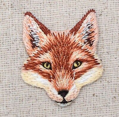 Red Fox - Head - Natural Animal - Embroidered Patch - Iron on Applique