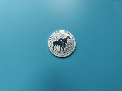 """Australia 2014 """"Year of the Horse  """"1/2 oz .999 Solid Fine Silver Coin 50 cents"""