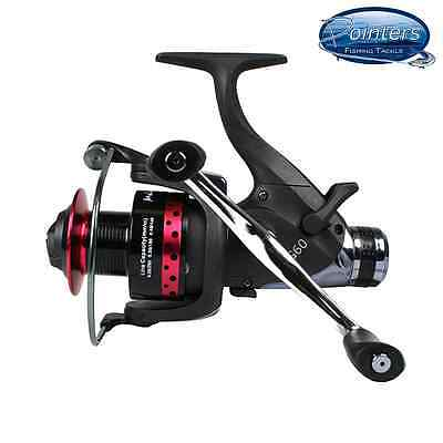 Melaluka EG60 8+1 Carp Runner Reel with Aluminium Spool & SS Bait Runner Fishing