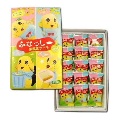 Nagatoya Pear Flavor Cake 15 pieces of Funassyi Candy Gift set Soft Pastry i49