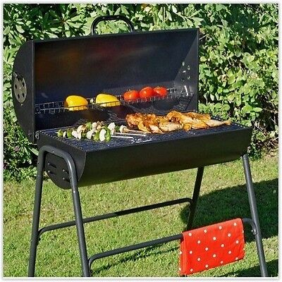 Charcoal Barbeque Smoker BBQ Grill Garden Portable Outdoor Cooking Patio