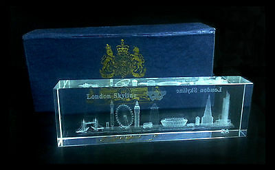 3D Skyline Crystal London Souvenir Gift - London Scene Crystal - Big Ben Crystal