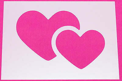 Overlapping Hearts/Heart Mylar Stencil Wall Art Craft Home Decor Painting DIY