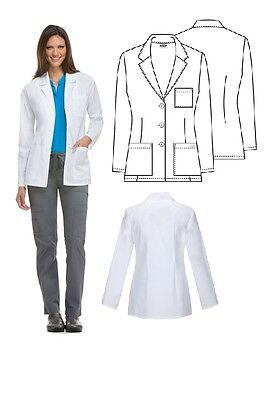 151a576bc32 DICKIES MEDICAL SCRUBS Missy Fit consultation Lab Coat 84401 White 3 ...