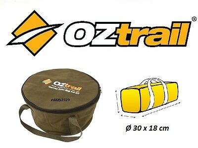 OZTRAIL CANVAS 4.5 QUART CAMP OVEN BAG Cast Iron Pot Pan Cookware storage