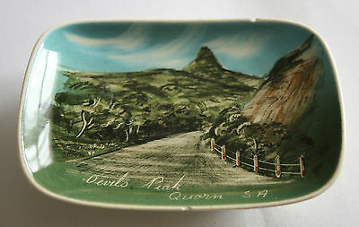 Studio Anna Pottery Small Plate Devils Peak S.A  Made in Australia Hand Painted