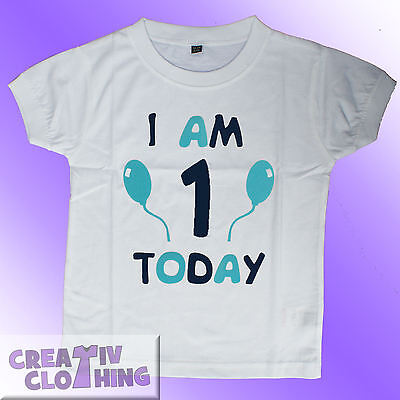 Baby Toddler T-Shirt BOYS - 1st 2nd 3rd Birthday - I am 1 2 or 3 today