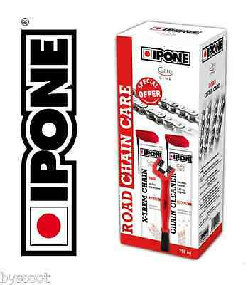 Pack nettoyage chaîne IPONE Road Chain Care moto route nettoyant graisse brosse