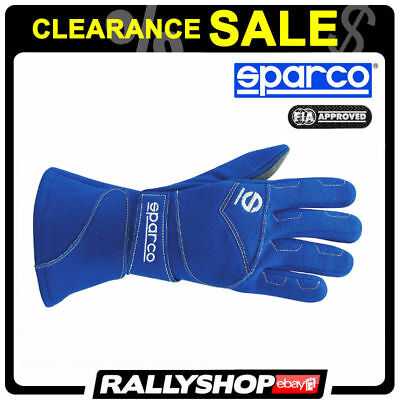 FIA SFI SPARCO FLASH GLOVES size 9 Blue Suede Racing Rallty CLEARANCE SALE!