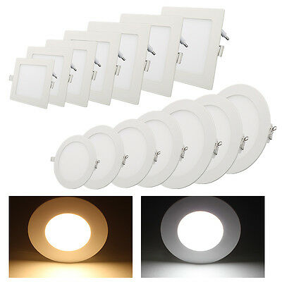 3W - 18W Ultra Delgado LED Panel Lámpara Downlight Empotrado Techo Foco Blanco