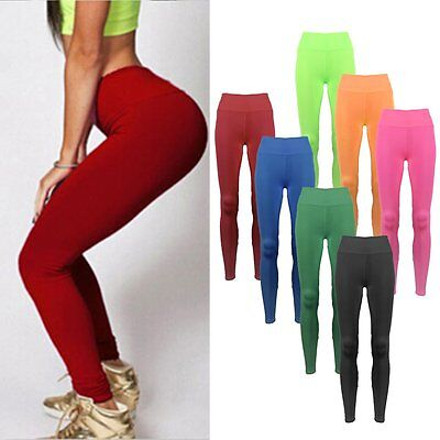 Women YOGA Workout Gym Sports Pants Leggings High Waist Fitness Stretch Trousers