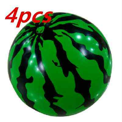 4pcs Inflatable Blowup Beach Watermelon Ball Holiday Party Swimming Garden Toys
