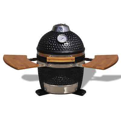 Kamado Barbecue Grill Smoker Ceramic 44 cm BBQ Coal Wood Cooking Garden Patio