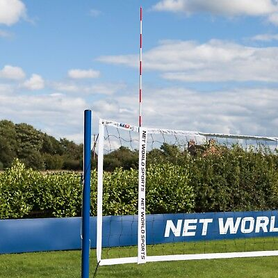 Pair of Red & White Volleyball Net Antennas with Sheaths [Match Regulation]