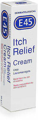 E45 Itch Relief Cream 50G- For Itchy Eczema & Dry Skin,treates & Soothes