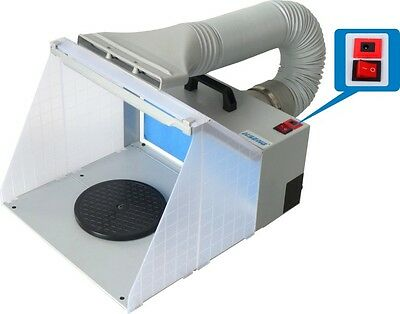 Portable Airbrushing Spray Booth & Extractor E420DCLK with New LED Light