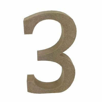 Dovecraft Wooden MDF decorative Embelishment Letter Collection Number - 3