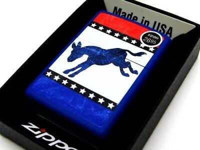 ZIPPO Blue Matte DEMOCRATIC Donkey Windproof Lighter NEW! 29166