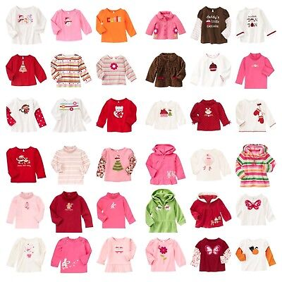 NWT GYMBOREE Fall/Winter LS Top Hoodie 3-6-12-18-24 mos 2T 3T 4T 5T Choose