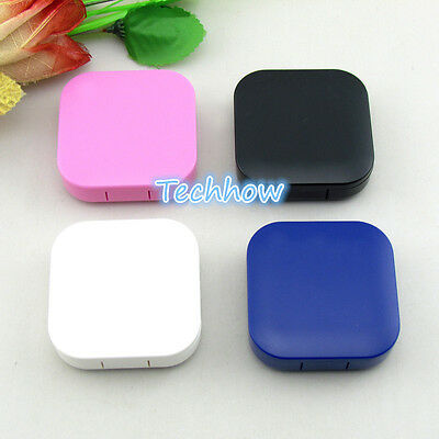 Pocket Mini Contact Lens Case Mirror Container Holder