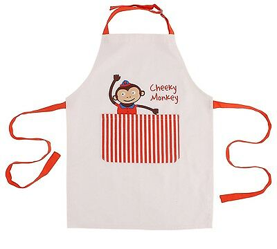 Childs cheeky monkey apron. Cooking/ crafts. Birthday party gift. Canvas bag