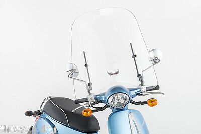 "Slipstreamer 20""/23.5"" #S-SCTR-M (8mm mirror mounted scooter windshield)"