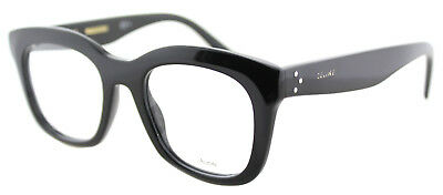 ebb57b2c31c3 AUTHENTIC CELINE CL 41378 807 Black Plastic Square Eyeglasses 48mm -   139.99