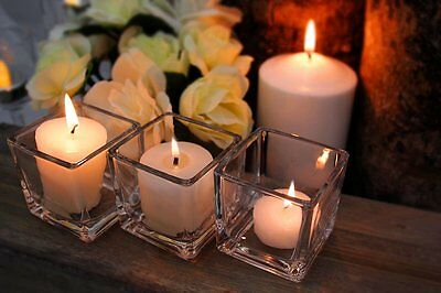 "2"" Clear Glass Cube Vase Square Candle Holder Wedding Floral Decor - 36 pcs"