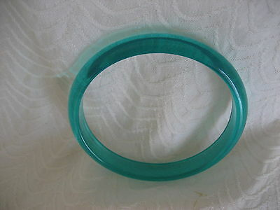 Tourquoise Blue~Green Thin Lucite Bangle Bracelet
