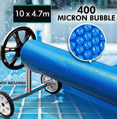 NEW Solar Swimming Pool Cover- 10x4.7 Outdoor 400 Bubble Roller Blanket Heater
