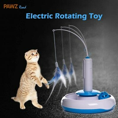 Cat Kitten Puppy Puzzle Pet Toy Electric Automatic Rotating Play Interactive Toy