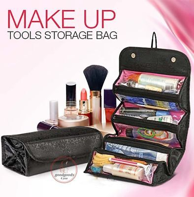 Roll-up Organizer Pouch Hanging Toiletry Wash Bag Travel Cosmetic Makeup Case