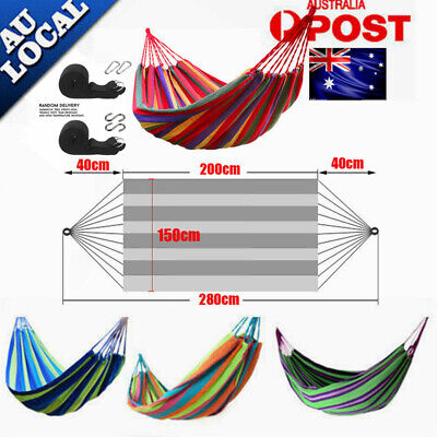 Huge Double Cotton Fabric Hammock Air Chair Hanging Swinging Camping Comfortable