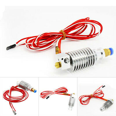 Hot 3D Printer J-head Hotend Extruder 0.3/0.4/0.5mm Nozzle 1.75/3mm Filamnet BU