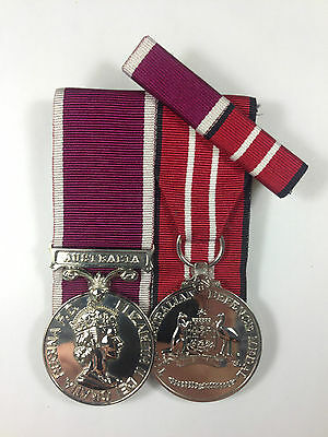 Set of 2 Long Service and Good Conduct Army, Ausrtalian Defence Medal