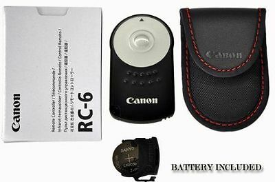 RC-6 Canon IR Wireless Remote Control EOS M 5D Mark II III 6D 60D 650D Rebel 7D