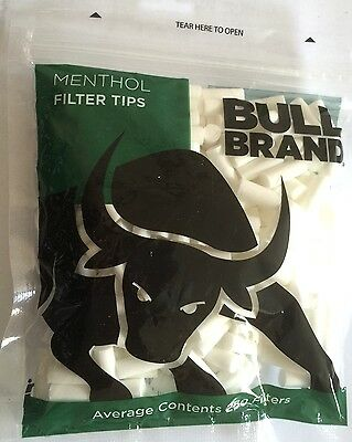 3 x BULL BRAND 6mm MENTHOL Resealable Bags Cigarette Tobacco Smoking FILTER TIPS