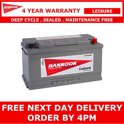 Hankook XV110 Deep Cycle Leisure Battery 12V 110AH Caravan Camper 354x174x190mm