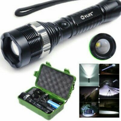 Quality 6000 Lumen Zoomable CREE XML T6 LED Flashlights Torch Lamp+18650 Battery