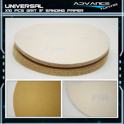 Disc 100 Grit 5 PSA Auto Sanding Paper Sheets Repair Sandpaper Magic Tape 10Pcs