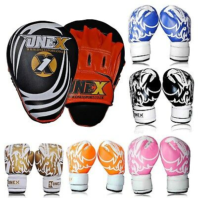 Smart Focus Pad Target Mit-Boxing Training Jab 6oz Gloves Junior Boys and Girls