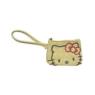 Hello Kitty Kitture Cream Quilted Coin Purse Wallet - OFFICIAL GIFTS